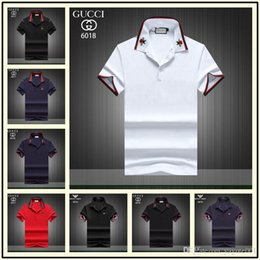 $enCountryForm.capitalKeyWord Australia - New Italy designer polo shirt Luxury t shirts mens Casual polos with embroidery Letter G Fashion strip Print Cotton polos