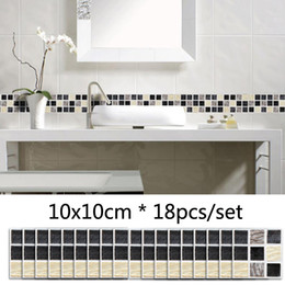 $enCountryForm.capitalKeyWord Australia - Marble Style Mosaic Matte Wall Sticker Self Adhesive Waterproof Tile Sticker Kitchen Bathroom Decor DIY Stickers Waistline Stickers