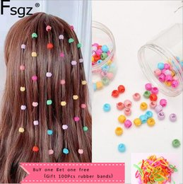 titanium hair claw Australia - 80 PCS Mini Hair Claw Clips For Women Girls Cute Candy Colors Plastic Hairpins Hair Braids Maker Beads Headwear Hair Accessories