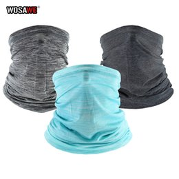 ice face mask NZ - WOSAWE Motorcycle Head Scarf Half Face Mask Ice Skill Balaclava Summer Sun Protect Neck Face Mask hood