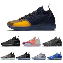 2019 Scarpe da basket Durant Kd 11 Black Gold Grigio Arancione Scarpe da ginnastica da uomo Kevin 11s Uomo