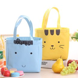 Wholesale Lunch Bags Portable Thickening Insulation Lunch Bags Ice Bag Cute Cartoon Face Picnic Bag Lunch Box