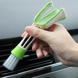 Portable Car Air Conditioner Vent Slit Cleaning Brush Car Dashboard Detailing Keyboard Cleaner Dusting Blinds Brush Tools on Sale