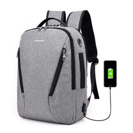 backpacks rock style UK - Wild2019 Lock Password Guard Against Theft Leisure Time Both Shoulders Usb Charge Men And Women Oxford Cloth Backpack Student Package