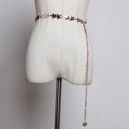 $enCountryForm.capitalKeyWord Australia - [YaLee] New Fashion 2019 Spring Summer Girdle Stars Belt Metal Belt Hook Buckle Long Chain Belts Women Y147