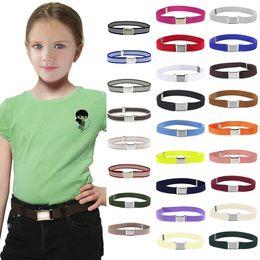 $enCountryForm.capitalKeyWord Australia - Canvas Belt Children Candy Color Kids Children Boys Girls Wide Elastic Stretch Waist Belt Waistband#0228