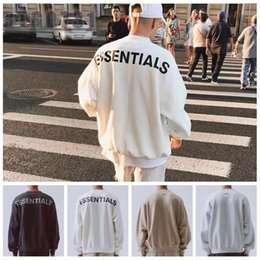 Wholesale black white hoodie online – oversize street Sweatshirts men women loose ovesized reflective embroidery Hoodies