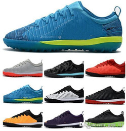 7a0936a02 New Mens Low Heel Football Boots Mercurial Finale II TF Neymar JR Soccer  Shoes ACC Mens Cristiano IC Indoor Soccer Cleats Football Boots