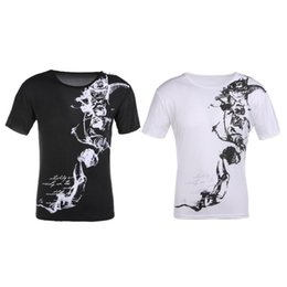 $enCountryForm.capitalKeyWord Australia - Men Male Summer T Shirt Fashion Print Slim Fit Men Top T-Shirts Short Sleeve O-Neck Floral Tee Shirt Homme Plus Size Man Clothes