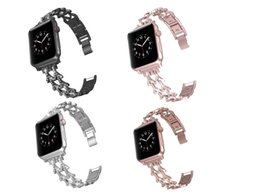 apple watch 38mm UK - For Apple Watch band 40mm 44mm 38mm 42mm Fashion Luxury Diamond Band for Apple Watch series 4 3 2 1 iWatch bracelet stainless steel strap
