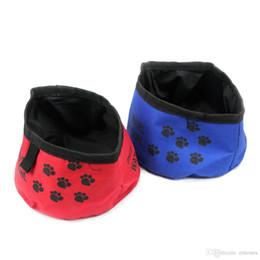 $enCountryForm.capitalKeyWord Australia - Pet Dog Cat Feeding Drink Food Bowls Treat Pouch Bag Treat Tote Travel Water Bowl Waterproof Feed Storage Foldable Food Pouch