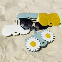 9a08eccc6d2 Eyeglasses Case Leather Australia - Pu Leather Soft Package Sunglasses Box  Folding Mirror Bag Pendant Cute