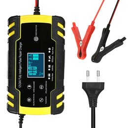 4a usb Australia - Full Automatic Car Battery Charger 100-240V To 12V 8A 24V 4A Intelligent Fast Charging Wet Dry Lead Acid Digital LCD Display