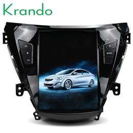 "Multimedia Player For Car Australia - Krando Android 7.1 10.4"" Tesla Vertical audio player for Hyundai Elantra 2011-2013 gps navigation multimedia play car DVD BT KD-HE352"