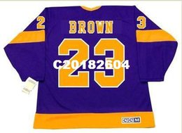 Wholesale Men DUSTIN BROWN Los Angeles Kings s CCM Vintage RETRO Home Hockey Jersey or custom any name or number retro Jersey