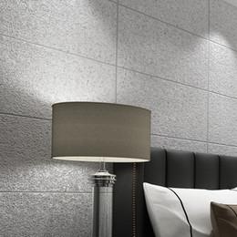 9c14c4c7c61 Moderno Simple Imitación 3D Mármol Azulejos Enrejado Papel tapiz Dormitorio  Sala de estar TV Telón de fondo Flocado Papel no tejido de pared con rayas