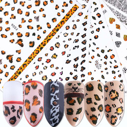 Print Nail Art Australia - 1 Sheet Nail Art Decals Adhesive Animals Stripes Leopard Print Tiger Pattern Fur Nail Stickers Manicure Decoration BEF505-510