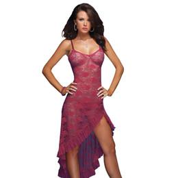 Wholesale lingerie plus sizes resale online - Women Long Dress Sexy Lingerie Sleepwear Plus Size XL XL XL XL Nightgown Nightwear Lady Underwear Dress G string
