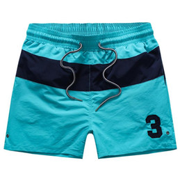 wholesale polo fashion sport NZ - ralph mens shorts lauren luxury polo Embroidery classic splice ralph brand fashion men shortss Outdoor sport beach shorts wild gym running