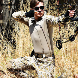 Multicam Suit Australia - Men Army Uniform Tactical Multicam Camouflage Combat Training Tactical Suit Shirt + Pants with Knee Pads