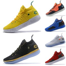 ae8a9ef231b 2019 New KD 11 EP Mens Basketball Shoes White Orange Foam Paranoid Oreo ICE Kevin  Durant XI Trainers Athletic Sports Sneakers Size 7-12