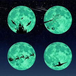 30 cm bambini camera da letto super luminosa luminosa luna wall sticker camera dei bambini decorazione home decor wall stickers Decal foto Wallpaper
