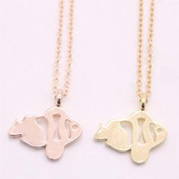 Necklaces Pendants Australia - Child interest pendant necklace Hollow out clownfish pendant necklace designed for women