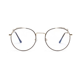 3e7b144c0b 2019 New Man Woman Retro Large Round Glasses Transparent Alloy Eyeglass  Frame Black Silver Gold Spectacles Eyeglasses FML
