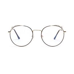 e92eeebda1 2019 New Man Woman Retro Large Round Glasses Transparent Alloy Eyeglass  Frame Black Silver Gold Spectacles Eyeglasses FML