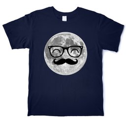 blue moon t shirts Canada - Moon Beard Man Funny Design T-Shirt Men's Pure Cotton Fashion T-Shirt Crew Neck Short Sleeve Street Big Size Tees Shirt Casual Printed Tops
