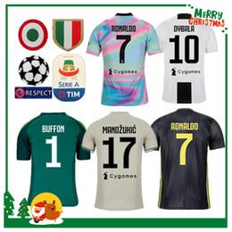 ea14878852b Fan version 18 19 Juventus RONALDO DYBALA HIGUAIN POGBA soccer jersey 2018  2019 Italy juve MARCHISIO MANDZUKIC BUFFON home away man shirt