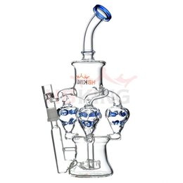 $enCountryForm.capitalKeyWord Australia - 10 inch triple recycler dab rig showerhead percolator glass water pipe tall cyclone glass bong for sale with 14mm bowl oil rig