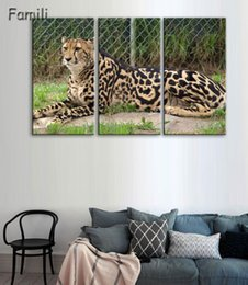 Painting African Australia - 3 pieces   set Piece Large Modern Printed Cheetah african Oil Painting Picture Decorative paintings Canvas Wall Art For Living