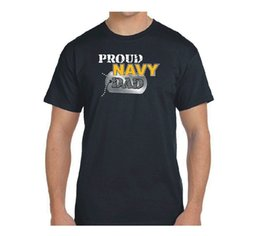 $enCountryForm.capitalKeyWord Australia - NAVY Dad Shirt, Proud NAVY Dad Dog Tag 6oz Black T-Shirt, 100% Cotton, US NAVY mens Cotton T-shirt Round Neck man's