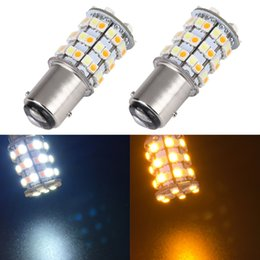 1157 lights online shopping - 2019 NEw Dual Color V BAY15D SMD Dual Color Yellow White Switchback Car Turn Signal Brake LED Light Bulb Lamp