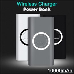 wireless power bank iphone Australia - Wireless Qi Charger 10000mAh Power Bank Fast Charging Adapter For Samsung NoteS8 For iPhone 8 iphone X with Retail Box