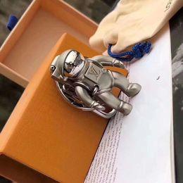 $enCountryForm.capitalKeyWord Australia - new key chain accessories fashion design astronaut key chain men and women metal brand car key chain gift box packaging