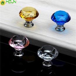 Crystal Pull Cabinet Handles Australia - Zenhosit Crystal Glass Knobs Cabinet Pulls 30mm Drawer Knobs Kitchen Cupboard Handles For Furniture Hardware Accessories
