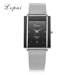woman gold watches UK - Lvpai Reticulated Steel Bring Male Surface Network Bring Woman Surface Quartz Watch Ultrathin Wrist Watch Quartz Watch