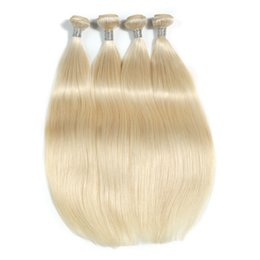 Chinese  The New Style Of Blonde 100% Malaysia Human Hair Extensions 10-30 Inchs Unprocessed Straight Hair Bundles Remy Hair Weaving manufacturers