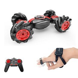 Wholesale 2.4GHz USB Rechargeable Twisting Vehicle Transforming Climbing Dual Motor 4 Channels RC Car Stunt Toy Kids Gift Gesture Sensing