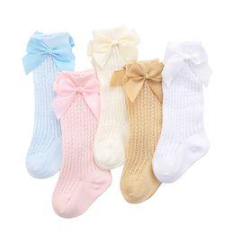 $enCountryForm.capitalKeyWord UK - Princess New Summer Children Socks for Girls Soft Mesh Knee High Kids Girl Socks Hollow Out With Bow-knot Leg Warmer