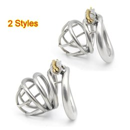 Bdsm Male Steel Cage Australia - 2 Styles Stainless Steel Curve Cock Cage Chastity Device Male Penis Ring Bondage Restraint BDSM Sex Toys For Men