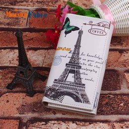 Discount wholesale iron designs - 2018 MAFA Women Long Design Purse Clutch Wallet Printing Bag Card Case Butterfly Iron Tower dropshipping csv f27