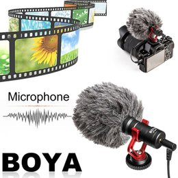 Dslr Camera Microphone Australia - BOYA Compact On-Camera Video Microphone Universal Interview Recording Mic For IOS For Android Smartphone DSLR Cameras