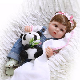 18 Inch Figure Australia - 18 Inches 45cm Silicone Reborn Baby Doll kids Playmate Lifelike toddler Baby Baby Dolls For Princess Children Kids Toy