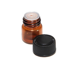 Wholesale 1ml ml ml Amber Glass Essential Oil Bottle perfume sample tubes Bottle with Plug and caps Dispensing glass bottles DHL