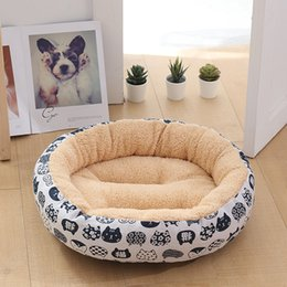 Discount small animal house - Hot 4 color pet dog bed warm dog house soft material nest basket autumn and winter warm kennel cat puppy quality superio