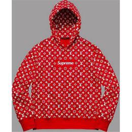 Ingrosso 2018 nuovo progettista del marchio con cappuccio da uomo con cappuccio sciolto moda casual con cappuccio pullover hip hop modello alfabeto manica lunga S-2XL