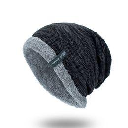 $enCountryForm.capitalKeyWord Australia - Brand Korean Winter Street Home Knitted Hat Cap Beanie for Men Women Male Felmale Fleece Hats Caps Outside Sport Head Protect